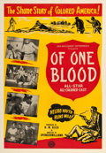 "Movie Posters:Black Films, Of One Blood (Sack Amusement Enterprises, 1944). One Sheet (28.25""X 41"").. ..."