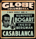 "Movie Posters:Academy Award Winners, Casablanca (Warner Brothers, 1943). Locally Produced Jumbo Window Card (17"" X 18.25"").. ..."