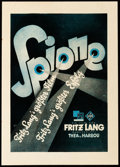 """Movie Posters:Thriller, Spies (UFA, 1928). German Trade Ad (9"""" X 12.75"""").. ..."""