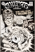 Original Comic Art:Covers, Bob Brown and Mike Esposito (attributed) Challengers of theUnknown #63 Cover Original Art (DC, 1968).... (Total: 2 Items)
