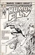 Original Comic Art:Covers, Bob Lubbers and Bob McLeod The Human Fly #13 Cover OriginalArt (Marvel, 1978)....