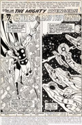 Original Comic Art:Panel Pages, George Pérez and Sam Grainger Avengers