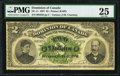Canadian Currency, DC-11 $2 2.7.1887 PMG Very Fine 25.. ...