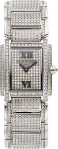 Timepieces:Wristwatch, Patek Philippe, Fine and Rare Ref. 4908/50 Twenty4 White Gold AndPave Diamond Ladies Wristwatch Circa 2002. ...