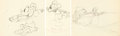 Animation Art:Production Drawing, Mickey's Rival Mickey Mouse, Minnie Mouse, and Mortimer Mouse Animation Drawings Group of 3 (Walt Disney, 1936).... (Total: 3 Items)