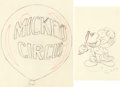 Animation Art:Production Drawing, Mickey's Circus Mickey Mouse and Title Animation DrawingsGroup of 2 (Walt Disney, 1936). ... (Total: 2 Items)