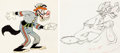 Animation Art:Color Model, The Practical Pig Big Bad Wolf Color Model and Animation Drawing Group of 2 (Walt Disney, 1939).... (Total: 2 Items)