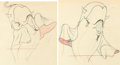 Animation Art:Production Drawing, Make Mine Music Willie the Whale Animation Drawings Group of 2 (Walt Disney, 1946).... (Total: 2 Items)