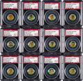 Baseball Cards:Sets, 1932 PR3 Orbit Gum Pins - Unnumbered PSA-Graded Collection (20). ...