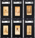 Baseball Cards:Lots, 1887-90 N172 Old Judge SGC-Graded Collection (6). ...