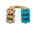 Estate Jewelry:Rings, Diamond, Chalcedony, Gold Ring, Garrard, English . ...