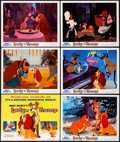 "Movie Posters:Animation, Lady and the Tramp (Buena Vista, R-1971). Title Lobby Card &Lobby Cards (5) (11"" X 14""). Animation.. ... (Total: 6 Items)"