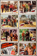 "Movie Posters:Western, Trail of Robin Hood (Republic, 1950). Lobby Card Set of 8 (11"" X 14""). Western.. ... (Total: 8 Items)"