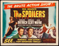 """, The Spoilers (Film Classics, R-1947). Title Lobby Card (11"""" X 14""""). Western...."""