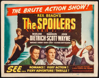 """The Spoilers (Film Classics, R-1947). Title Lobby Card (11"""" X 14""""). Western"""