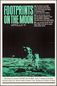 """Footprints on the Moon: Apollo 11 & Other Lot (20th Century Fox, 1969). One Sheets (2) (27"""" X 41""""). Docume..."""