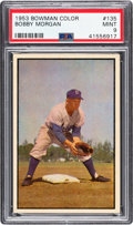 Baseball Cards:Singles (1950-1959), 1953 Bowman Color Bobby Morgan #135 PSA Mint 9 - Pop Four, NoneHigher....