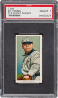Baseball Cards:Singles (Pre-1930), 1909-11 T206 Sweet Caporal 350/25 Cy Young (Glove Shows) PSA NM-MT 8 - None Higher. ...