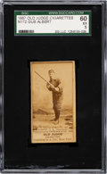 Baseball Cards:Singles (Pre-1930), 1887-90 N172 Old Judge Gus Albert (#1-1 Cleveland) SGC 60 ...