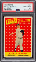 Baseball Cards:Singles (1950-1959), 1958 Topps Mickey Mantle All Star #487 PSA NM-MT+ 8.5....