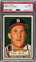 Baseball Cards:Singles (1950-1959), 1952 Topps Ebba St. Claire #393 PSA NM-MT 8....