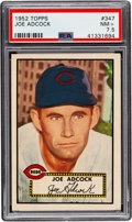 Baseball Cards:Singles (1950-1959), 1952 Topps Joe Adcock #347 PSA NM+ 7.5....