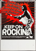 "Movie Posters:Rock and Roll, Keep on Rockin' (MGM, 1969). Poster (17.5"" X 25"") P. Blumer Artwork. Rock and Roll.. ..."