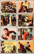 "Movie Posters:Drama, Valentino (Columbia, 1951). Lobby Card Set of 8 (11"" X 14""). Drama.. ... (Total: 8 Items)"