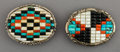American Indian Art:Jewelry and Silverwork, Two Zuni Belt Buckles... (Total: 2 Items)