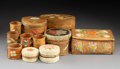 Other, Eleven Great Lakes Quilled Birchbark Items... (Total: 11 Items)