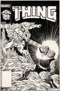 Original Comic Art:Covers, Ron Wilson and Joe Sinnott The Thing #17 Cover Original Art(Marvel, 1983)....