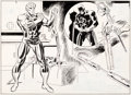 Original Comic Art:Panel Pages, Bob Brown and Don Heck Daredevil #109 Double-Page Spread 8and 9 Original Art (Marvel, 1974)...