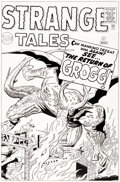Original Comic Art:Covers, Dick Ayers and Rich Ayers Strange Tales #87 Re-Creation ofCover Original Art (1996).