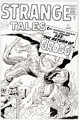 Dick Ayers and Rich Ayers Strange Tales #87 Re-Creation of Cover Original Art (1996)