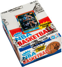 1986-87 Fleer Basketball Wax Box With 36 Unopened Packs - As Issued By Fleer