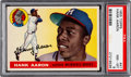 Baseball Cards:Singles (1950-1959), 1955 Topps Hank Aaron #47 PSA NM-MT 8....