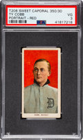 Baseball Cards:Singles (Pre-1930), 1909-11 T206 Sweet Caporal 350/30 Ty Cobb (Red Portrait) PSA VG 3. ...