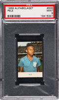 Olympic Cards:General, 1958 Alifabolaget Pele #635 PSA Mint 9 - Pop Five, None Higher....