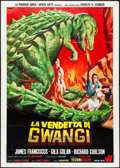 "Movie Posters:Science Fiction, The Valley of Gwangi (Warner Brothers, 1969). Italian 2 - Fogli (39.25"" X 55""). Artwork by Franco Picchioni. Science Fiction..."