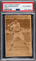 Baseball Cards:Singles (Pre-1930), 1914 E224 Texas Tommy Type 1 Fred Snodgrass PSA Authentic - Uncatalogued. ...