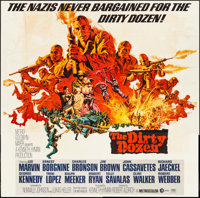 "The Dirty Dozen (MGM, 1967). Six Sheet (80"" X 79"") Frank McCarthy Artwork. War"