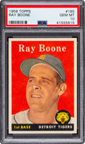 Baseball Cards:Singles (1950-1959), 1958 Topps Ray Boone #185 PSA Gem Mint 10 - Pop Two! ...
