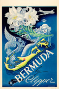 "Movie Posters:Miscellaneous, Bermuda by Clipper (Pan American Airways, 1949). Travel Poster (28""X 42"") Boris Artzybasheff Artwork.. ..."