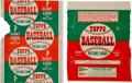 Baseball Cards:Unopened Packs/Display Boxes, 1952 Topps Baseball 1-Cent and 5-Cent Wax Pack Wrappers Pair(2)....
