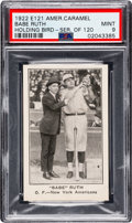 Baseball Cards:Singles (Pre-1930), 1922 E121 American Caramel Co. Series of 120 Babe Ruth PSA MINT 9 -Pop Two, None Higher. ...