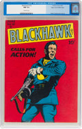 Golden Age (1938-1955):War, Blackhawk #19 Mile High Pedigree (Quality, 1948) CGC NM 9.4Off-white pages....