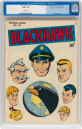 Golden Age (1938-1955):Adventure, Blackhawk #10 Mile High Pedigree (Quality, 1946) CGC NM+ 9.6 White pages....