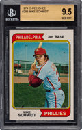 Baseball Cards:Singles (1970-Now), 1974 O-Pee-Chee Mike Schmidt #283 BGS Gem Mint 9.5 - Pop One, None Higher! ...