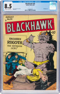 Golden Age (1938-1955):War, Blackhawk #20 (Quality, 1948) CGC VF+ 8.5 Off-white to white pages....