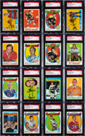 Autographs:Sports Cards, Signed 1960's - 1980's Topps & O-Pee-Chee Hockey HoFers Card Collection (16). ...